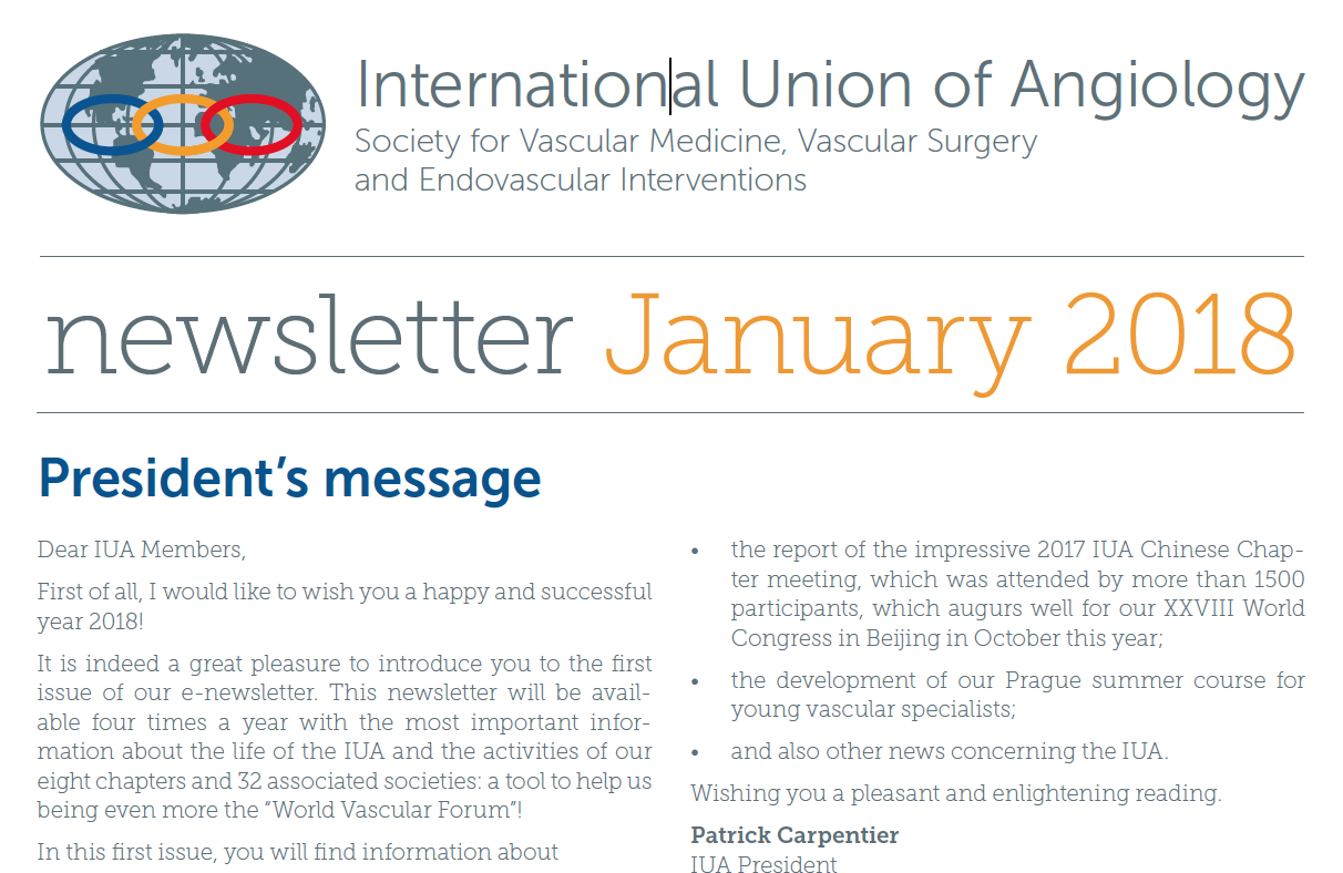 IUA Newsletter (January 2018)